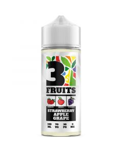 3 Fruits strawberry apple grape e-liquid 100ml
