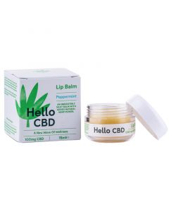 Hello CBD 50mg peppermint lip balm 15ml