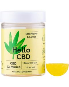 Hello CBD 300mg elderflower & lemon gummies