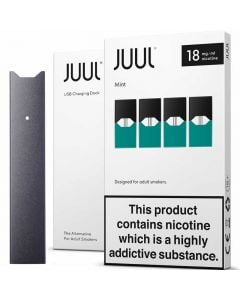 JUUL device kit with pack of 4 pods