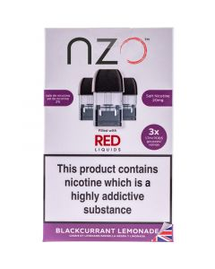 nzo blackcurrant lemonade pods 3 pack