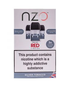nzo silver tobacco pods 3 pack