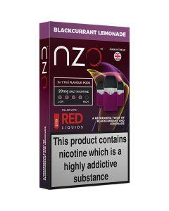 nzo RED Liquids blackcurrant lemonade pods 3 pack
