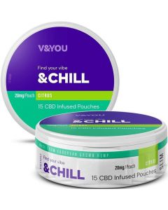 V&YOU 20mg chill citrus CBD infused pouches 15 pack
