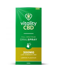 Vitality CBD lemon full spectrum oral spray 30ml