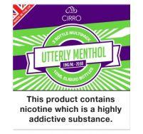 Cirro utterly menthol e-liquid 3x10ml