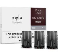 Mylo black jack nic salt pods 3 pack