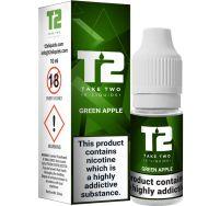 T2 green apple e liquid 10ml
