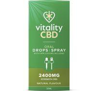 Vitality CBD natural oral drops / spray 2400mg 30ml