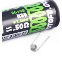 Wotofo 0.5 ohm fused clapton prebuilt coils 10 pack