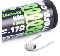 Wotofo 0.17 ohm triple core fused clapton prebuilt coils 10 pack