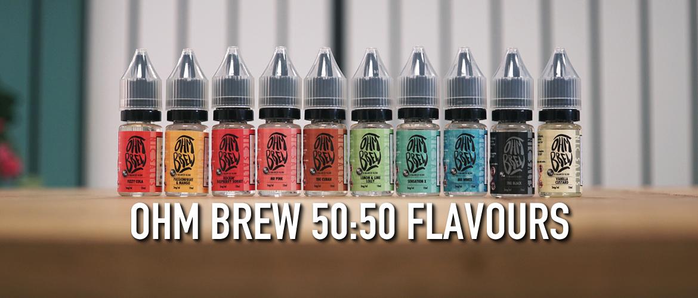 Ohm Brew 50:50 Nic Salt Range Flavours