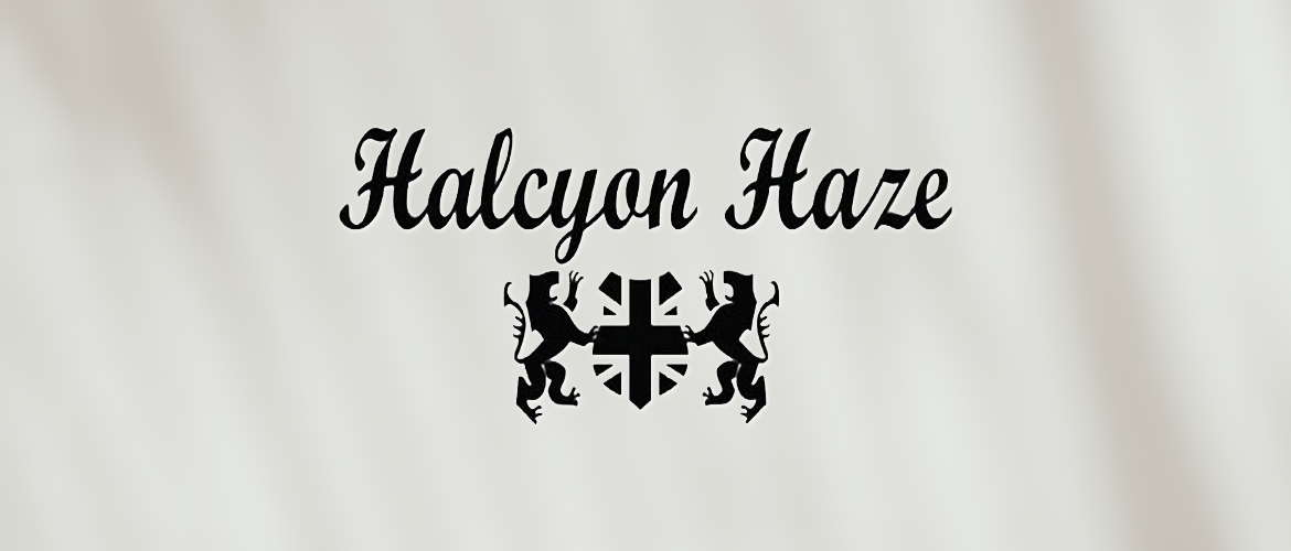 Image of the Halycon Haze logo on a white background.