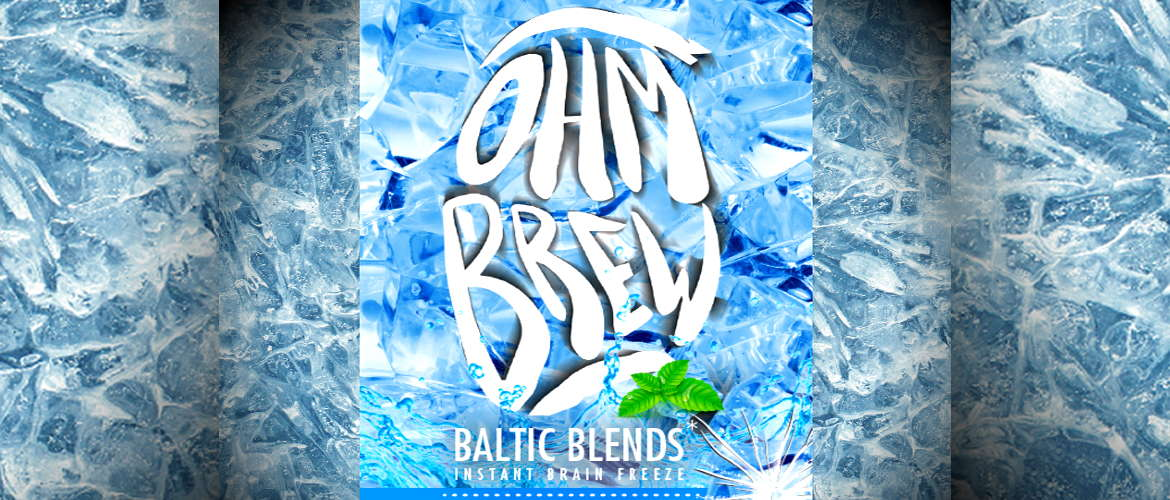 Image of the ohm brew eliquid logo for the Baltic Blends eliquid range