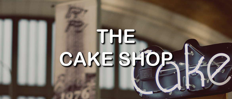 Neon sign for The Cake Shop E-liquid range