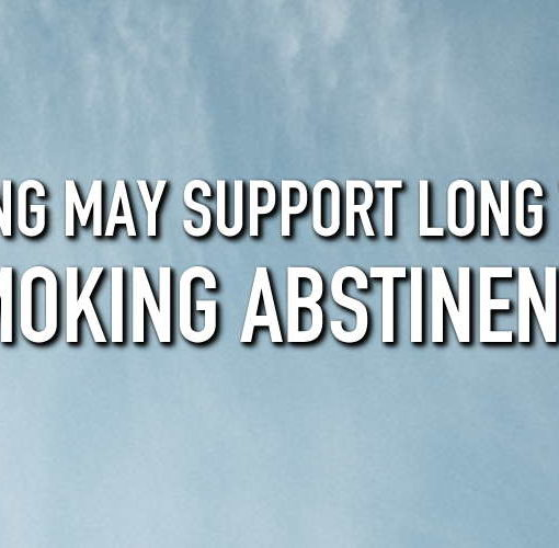 blue sky with clouds with the title vaping may support long term smoking abstinence