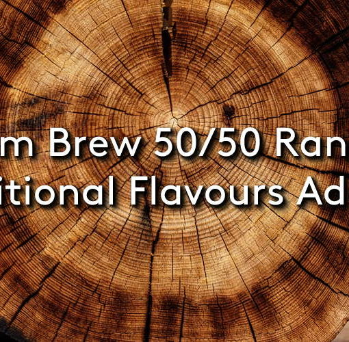 The new ohm brew 50/50 range on a wooden background