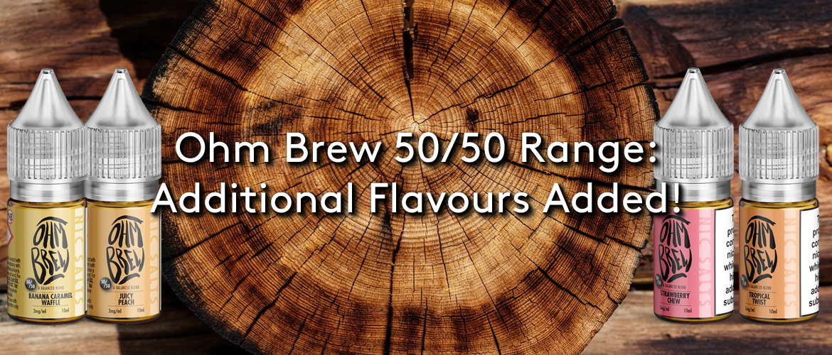 Ohm Brew 50:50 Range Additional Flavours Added