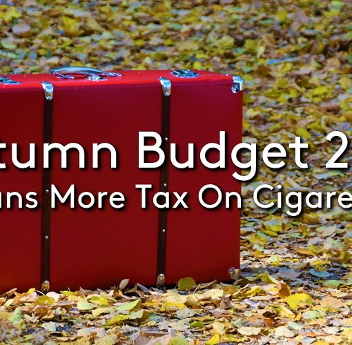 red suite case on autumn leaves representing the UK autumn budget 2018