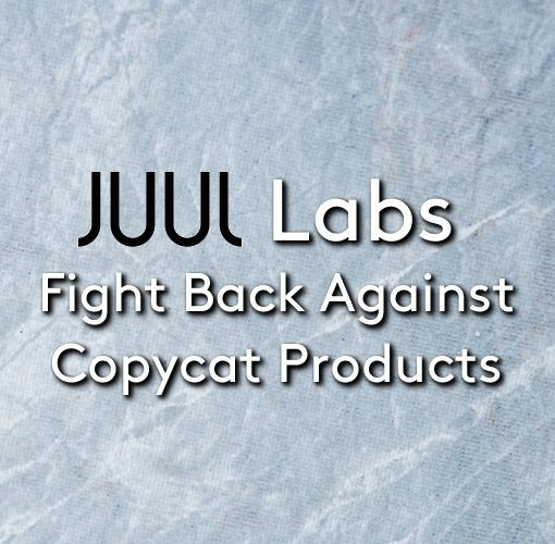The JUUL device and pods on a icy background with the juul logo in centre
