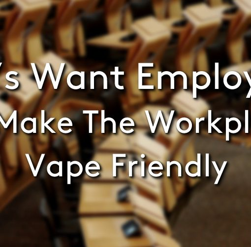 A conference room full of empty chairs, with the title MP's want employers to make the workplace vape friendly