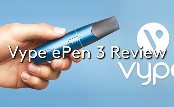 The Vype ePen 3 vape kit held by a hand, with the Vype logo