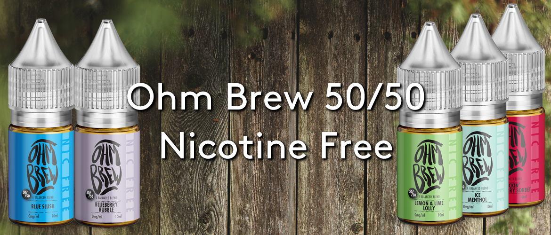 Ohm Brew 50/50 Nicotine Free