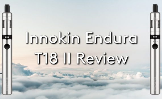 The innokin endura t18 ii vape pen on a cloudy sky background