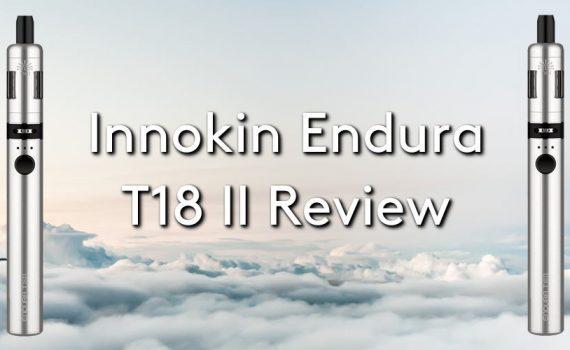 The innokin endura t18 ii vape pen on a cloudy sky background