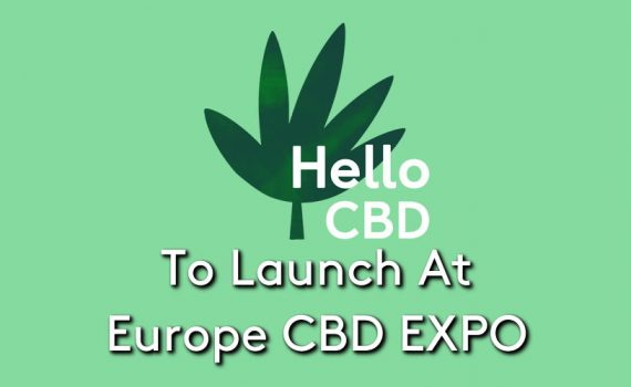 The Hello CBD logo on a green background