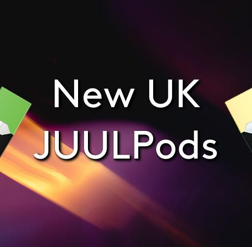The new JUULpods UK on a blurry space background