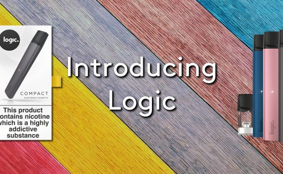 The logic compact kit and pod system on a colourful wooden background
