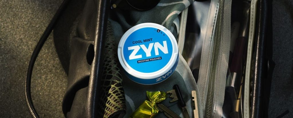 ZYN nicotine pouch in bag