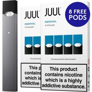 JUUL device with menthol pods