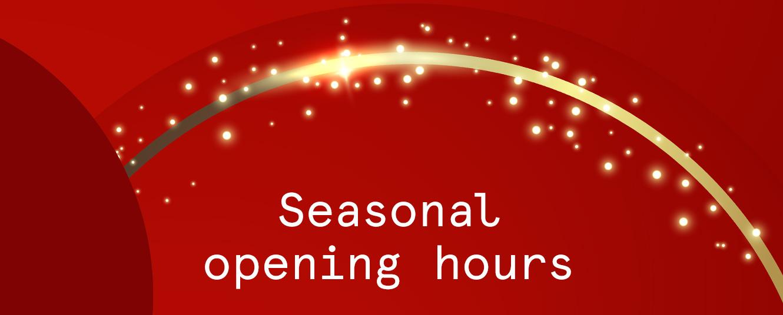 Evapo seasonal opening hours 2020